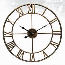 nordic roman numeral metal wall clocks