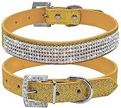 rhinestone adjustable cat dog collars