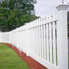 Durables 4 High Burton Picket Fence White Burton Picket Fence Vinyl Fence
