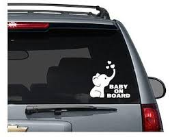 Baby Car Decal Etsy