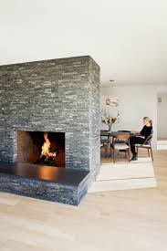 fireplace hearth stone ideas dining