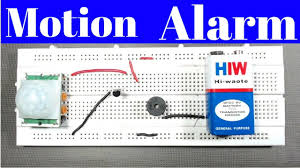 motion sensor alarm pir without