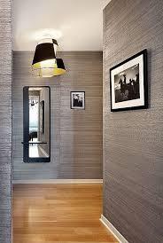 textured wallpaper the hallway is