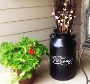 Make Over A Milk Can With Decals Trading Phrases