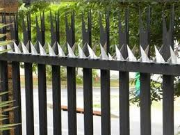 Anti Climb Spikes Add Deterrence To Perimeter Security Palisade Fence Security Fence Perimeter Security