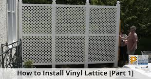 How To Install Vinyl Lattice Using Durashell Permalatt