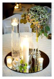 glass with tea lights floating
