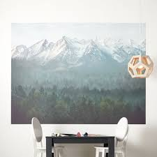 Mountain Wall Mural Reviews Crate And Barrel