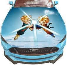Vinyl Car Hood Wrap Full Color Graphics Decal Anime Dragon Ball Z Goku Sticker Ebay