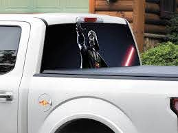 Product Darth Vader Lightsaber Star Wars Rear Window Decal Sticker Pick Up Truck Suv Car Any Size Rear Window Decals Window Decals Star Wars Decal