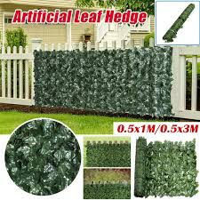 1m 3m Wall Artificial Ivy Leaf Hedge Screening Roll Garden Fence Balcony Privacy Wish
