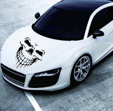 Large Size Skull Head Car Stickers And Decals Reflective Vinyl Car Styling Auto Engine Hood Door Window Car Decal Car Stickers Aliexpress