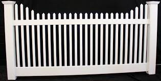 Victorian Stepped Picket Vinyl Fence Panel Buyvinylfence Com