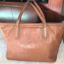 fossil sydney per leather tote