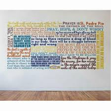 Home Accents Blessings Saint Padre Pio Quote Wall Decal