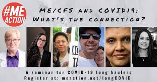 """MEAction will host a seminar for post-COVID-19 """"long haulers"""" on Friday  August 7 to learn more about ME/CFS in partnership with BodyPolitic :  CoronavirusSurvivors"""