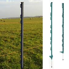 3 4ft Green Electric Fence Poly Posts Plastic Horse Paddock Stable Pole Fencing Ebay