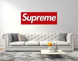 Supreme Logo Wall Decal Supreme Wall Decall Egraphicstore