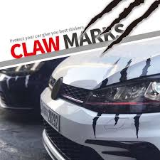 1pcs Car Sticker Scratch Stripe Claw Marks Car Auto Headlight Decal Car Styling White Red Black Wish