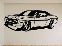 Dodge Challenger Charger Car Auto Wall Decal Stickers Murals Boys Room