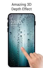 rainy blue water drop glass live 3d