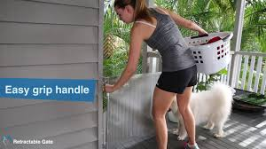 One Hand Operation Perma Outdoor Retractable Gate Youtube