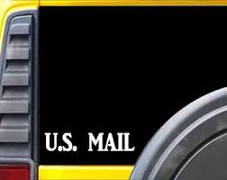 Mail Carrier Decal Etsy
