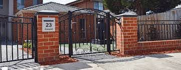 Fence Accessories Steel Lacework Wrought Iron Fencing Custom Brick Fences