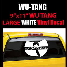 Wu Tang Clan 11 Wide White Vinyl Decal Sticker Free Shipping For Sale Online
