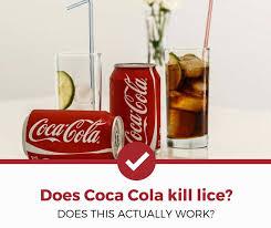 does coca cola kill head lice the