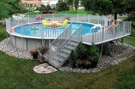 above ground pools decks idea above