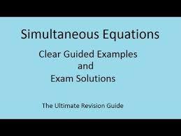 quadratic simultaneous equations gcse