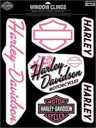Harley Davidson Window Cling Decal Sheet Fierce Dw125730 Harley Harley Davidson Decals Harley Davidson