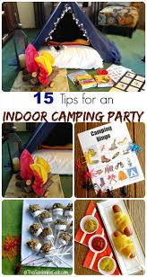 Indoor Camping Party Tips And Activitites For Cooped Up Kids Printables