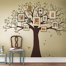 Amazon Com Simple Shapes Family Tree Wall Decal Two Colors Scheme A Small Size 95w X 80h Inch Home Kitchen