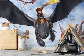 Excited To Share The Latest Addition To My Etsy Shop How To Train Your Dragon Wall Mural The Hidden W Dragon Wall Mural How To Train Your Dragon Dragon Wall