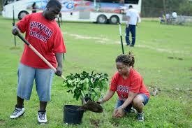 Team leader, Joseph Dillard, and social work student Erica Myrtle-Holmes.