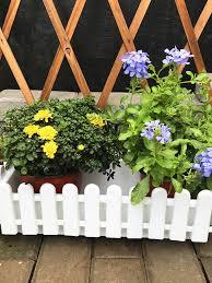 White Pvc Picket Fence Miniature Home Garden Border Grass Lawn Edge Fence Guardrail Surround Fence Wedding