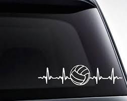 Love Volleyball Decal Volleyball Decal Love Decal Etsy