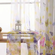 Custom Curtain Any Size Butterfly Pattern Print Tulle Sheer Etsy