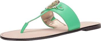 Lilly Pulitzer Rousseau Sandal (Myrtle Green) Women's Shoes - USA