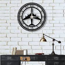 metal wall clock fighter jet metal