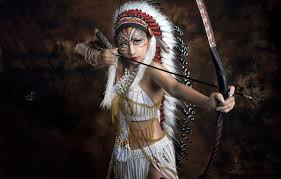 cosplay brunette asian bow arrow