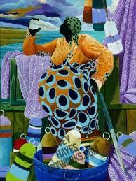 Women Pier Fishing   African american art, Harlem renaissance artists, Afro  art