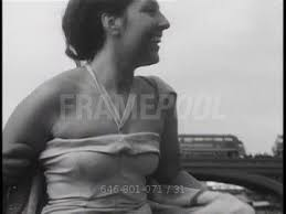 Hillary Brooke / Swimming / London / Oct 8, 1953   HD Stock Video ...