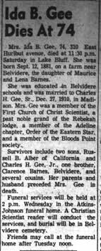 Ida Barnes Gee Obituary Belvidere Daily Republican Oct 3, 1955 -  Newspapers.com