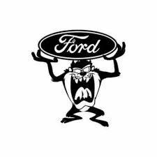 Taz And Ford Vinyl Decal
