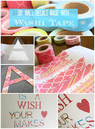 Diy Washi Tape Wall Decals Super Easy Adorable Designer Trapped