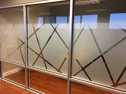 frosted design at conference room