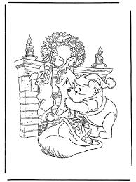 Winnie De Poeh Als Kerstman Kleurplaat Winnie De Poeh